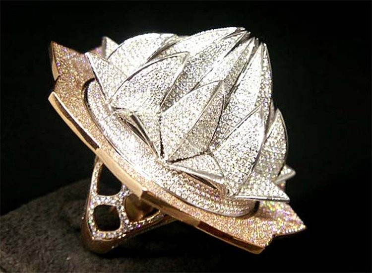 7,777-Diamond 'Lotus Temple Ring' Snatches Guinness World Record From 'Lotus Ring'